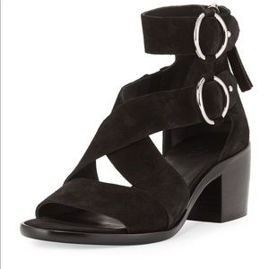 Rag & bone Mari black suede sandals worn 1x